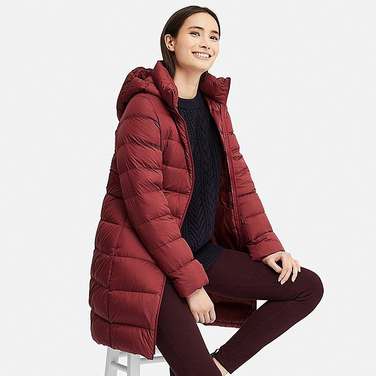 Women Ultra Light Down Hooded Coat Red Puffer Jacket Women Hooded Coat Cold Weather Outfits