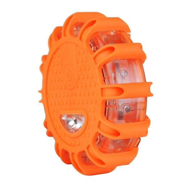 ComLED Road Flares Emergency Disc Roadside Safety Light Flashing Road  Beacon For Car Truck