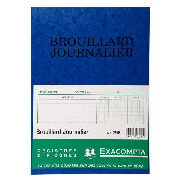 EXACOMPTA Brouillard journalier Recettes / Dépenses – 270 x 195 mm – Livre de compte