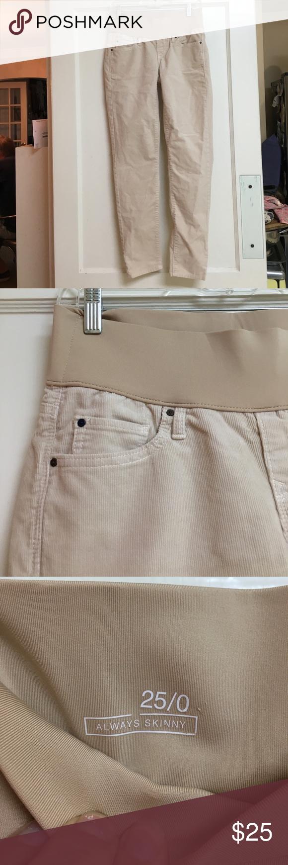 Maternal America Womens Maternity Corduroy Pants