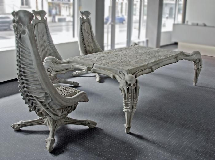 H R  Giger   Harkonnen table and chairs  1982. H R  Giger   Harkonnen table and chairs  1982       Chairs   Pinterest