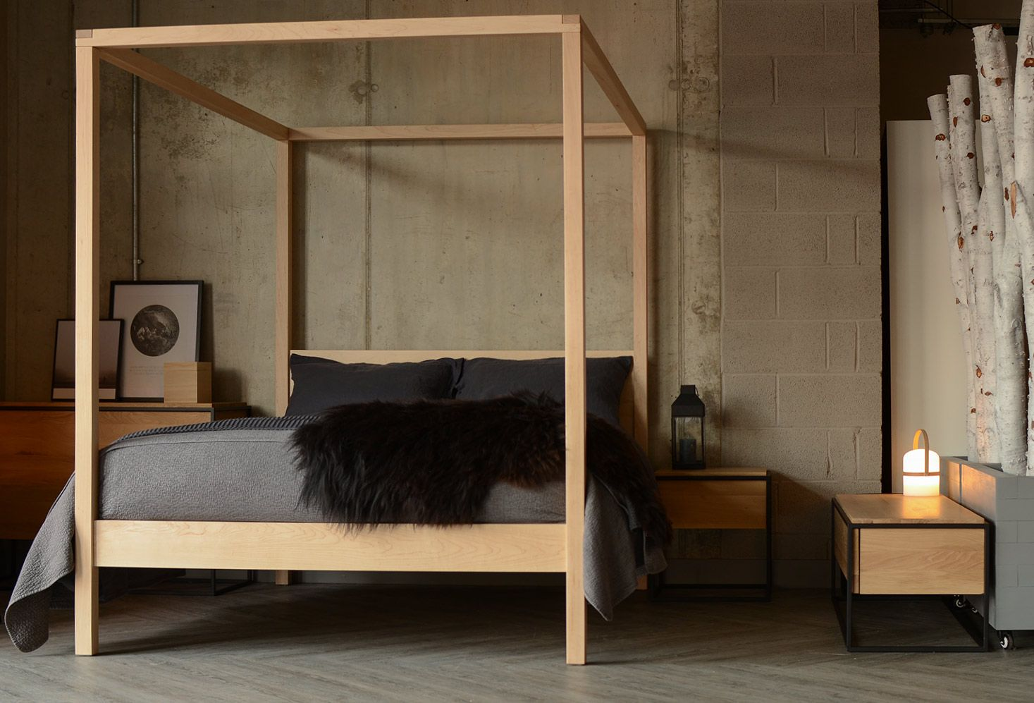 cosy blonde wood 4 poster from natural bed company scandinavian rh pinterest com