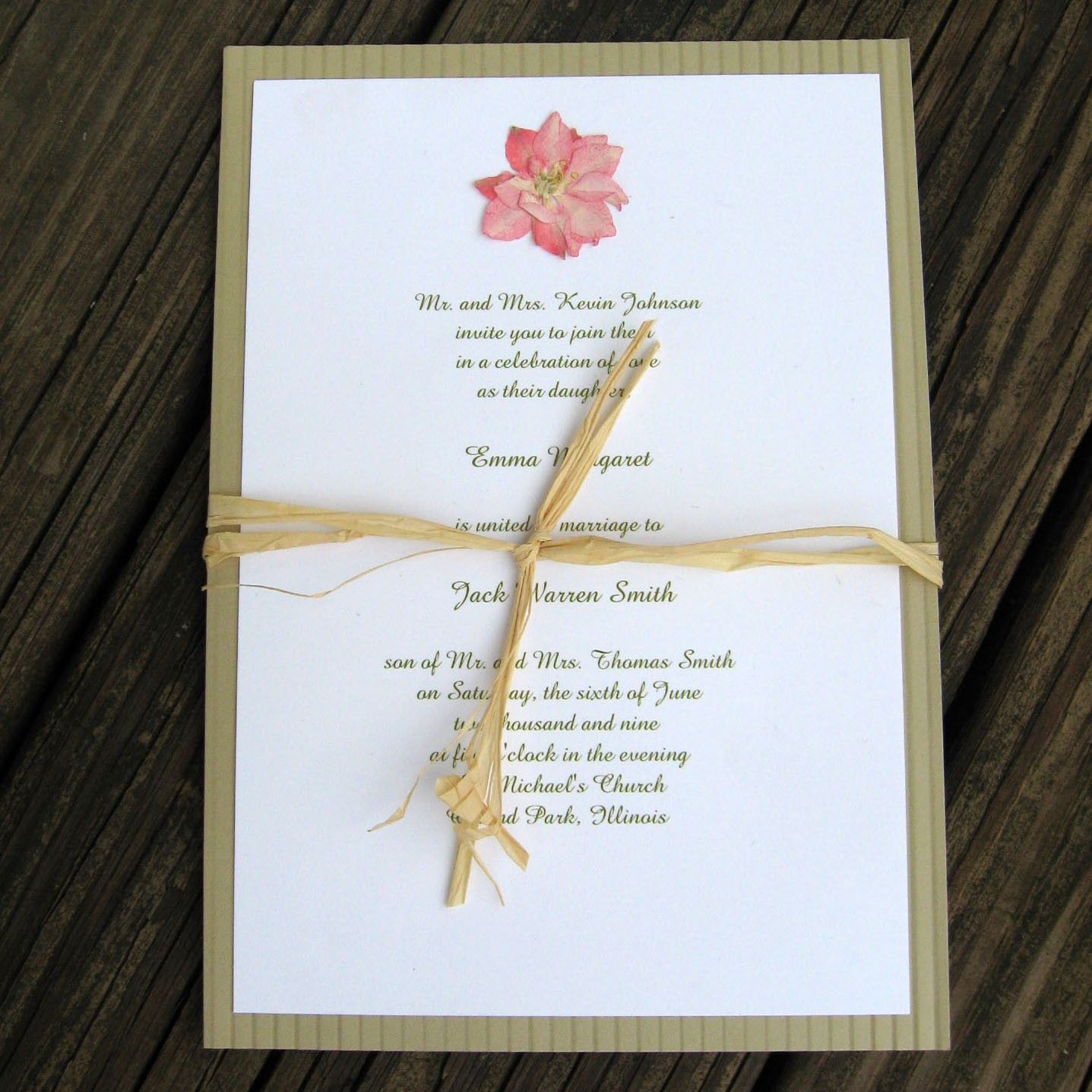 wedding invitation pressed flower Google Search