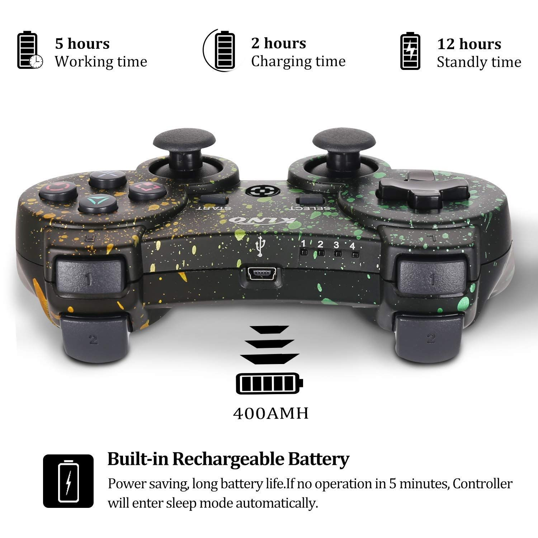 Ps3 Controller Wireless Dualshock Joystick Klno Bluetooth Gamepad Sixaxis Super Power Usb Charger Sixaxis Dualshock3 In Ps3 Controller Dualshock Wireless
