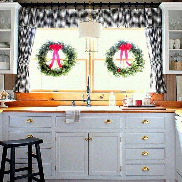 küche-gestalten-ideen-Küchenvorhänge Dekoration Pinterest - küche dekorieren ideen