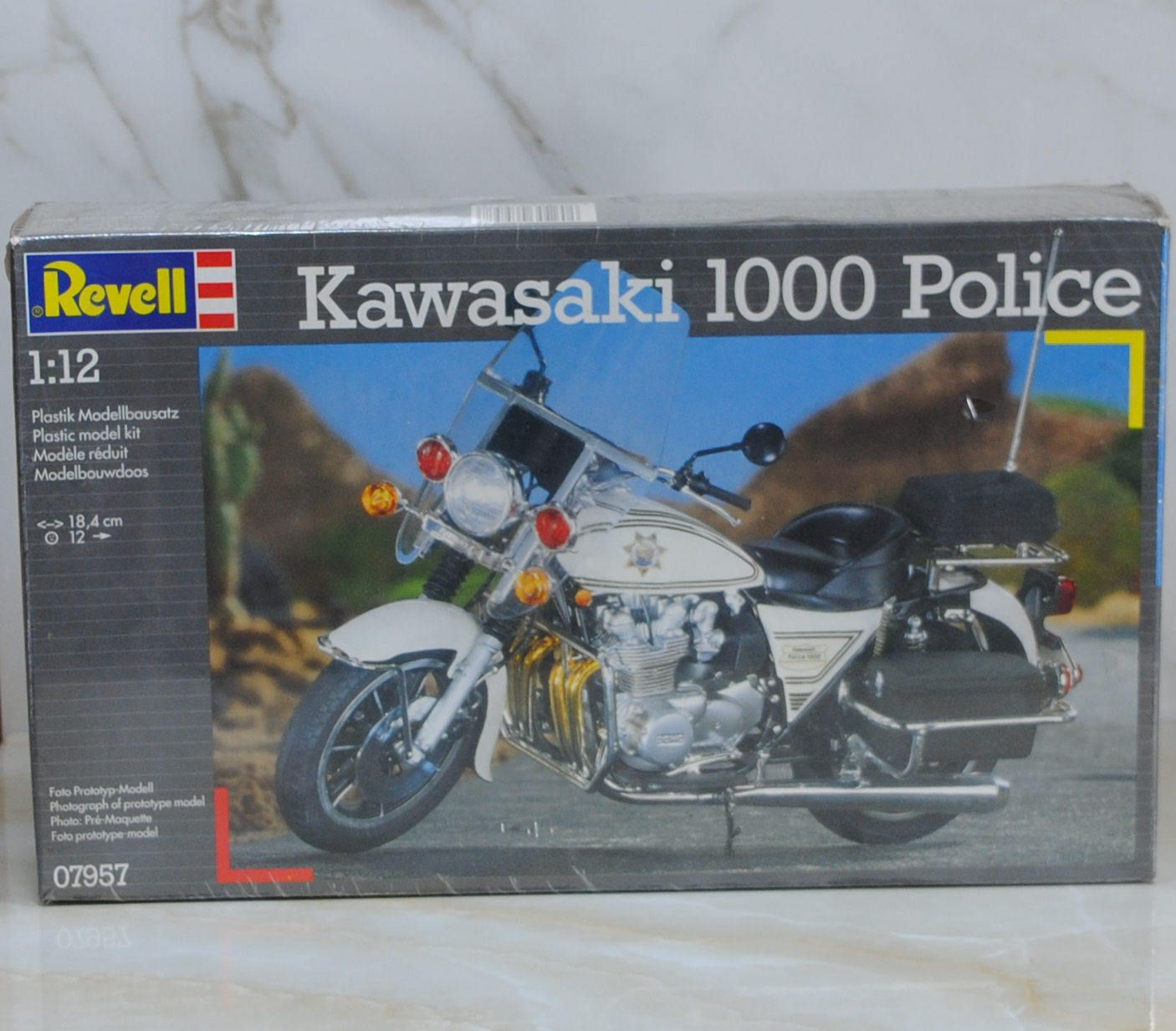 Vintage Kawasaki 1000 Police Motorcycle, Revell Model Kit