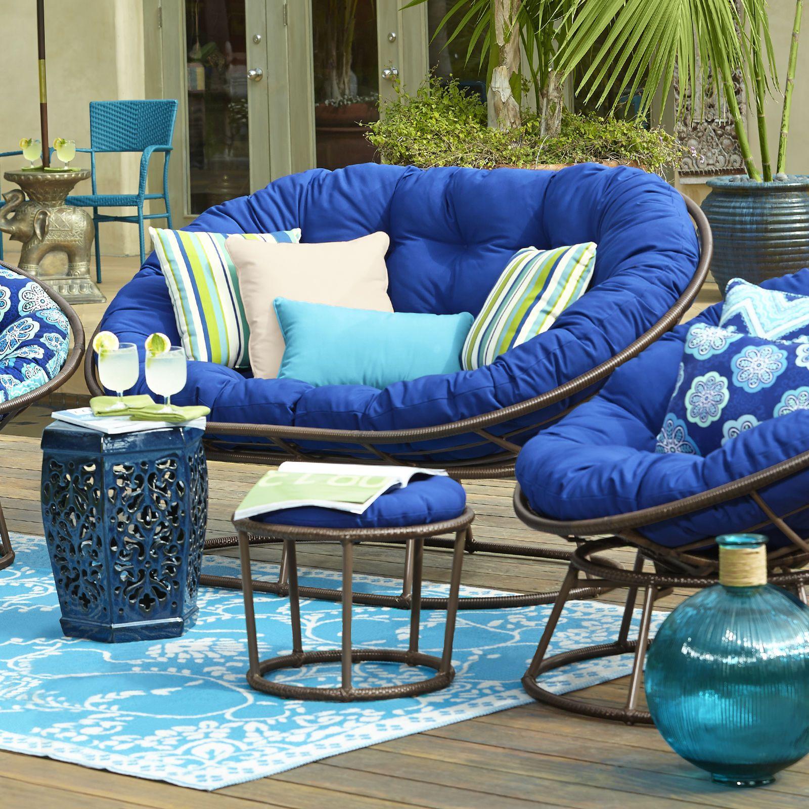 Papasan Outdoor Stool Mocha Outdoor Stools Outdoor Furniture