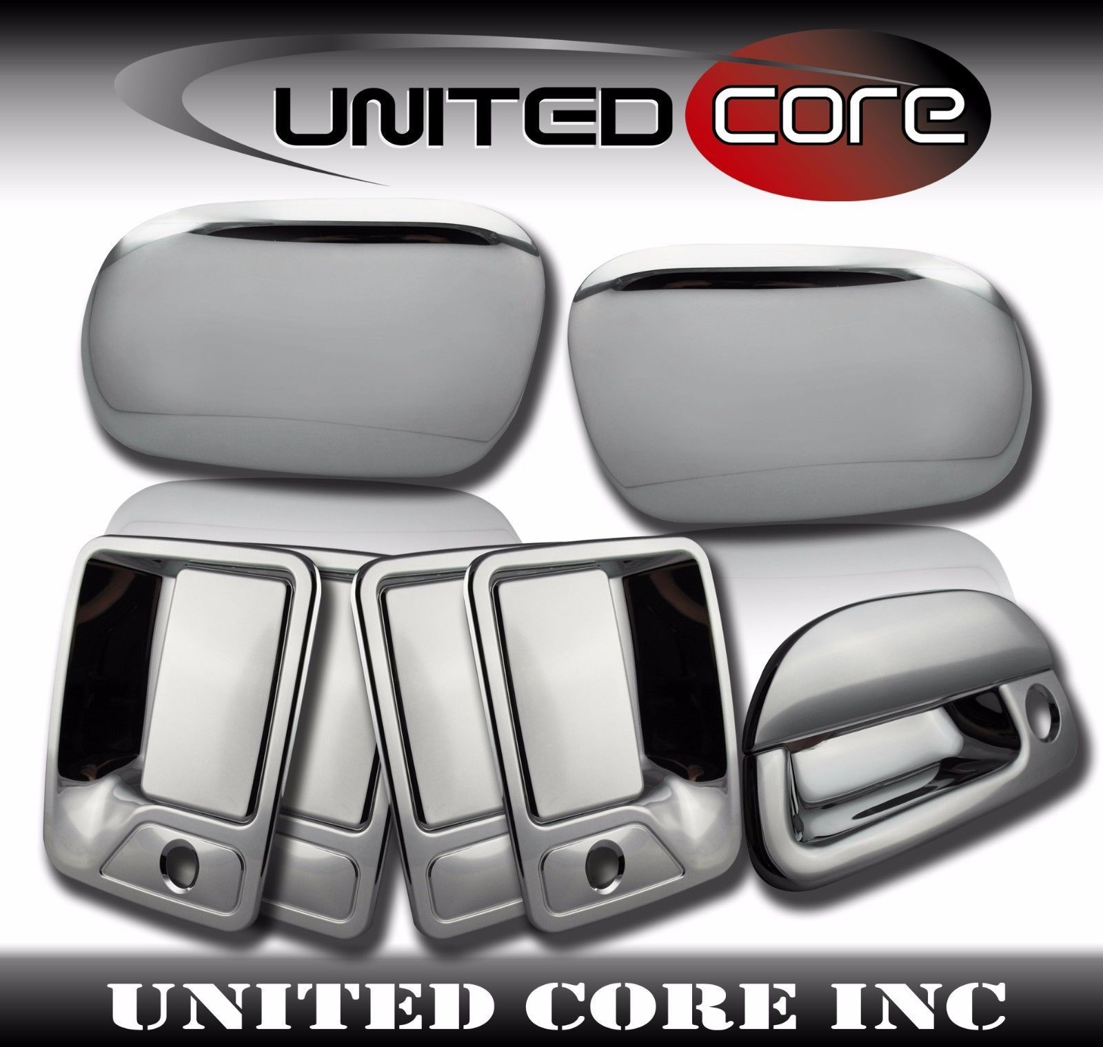 99 07 Ford F250 F350 Chrome Mirror Cover Chrome Door Handle Chrome Tailgate Chrome Door Handles F250 Chrome Mirror