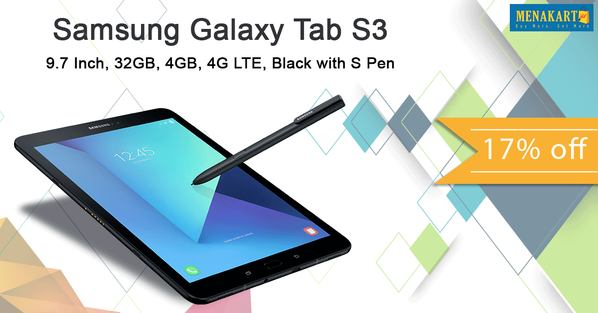 Shop For Samsung Galaxy Tab S3 9 7 Inch 32gb 4gb 4g Lte Black With S Pen Online Samsung Galaxy Tab Galaxy Tab Samsung Galaxy