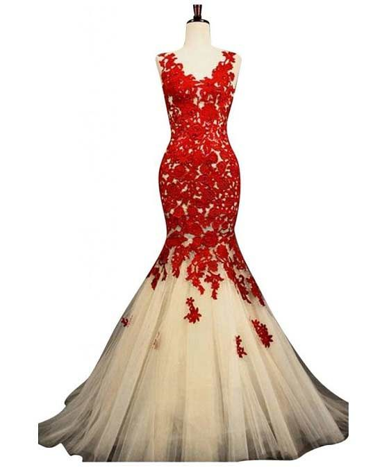 Unique Prom Dresses | ... applique formal prom homecoming gown – Best mermaid style prom dress