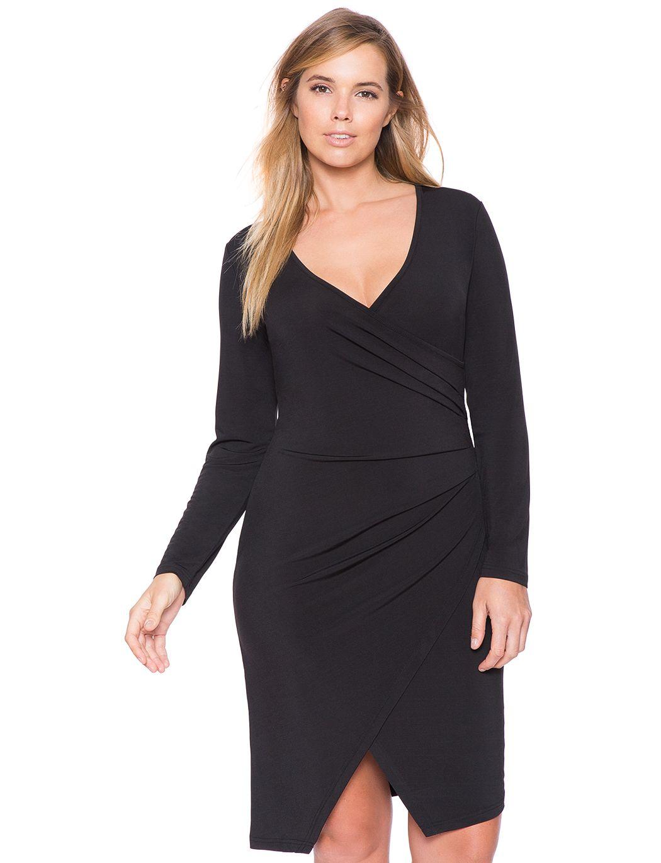 Asymmetrical Wrap Dress Women S Plus Size Dresses Eloquii Plus Size Bodycon Dresses Dresses Plus Size Dresses
