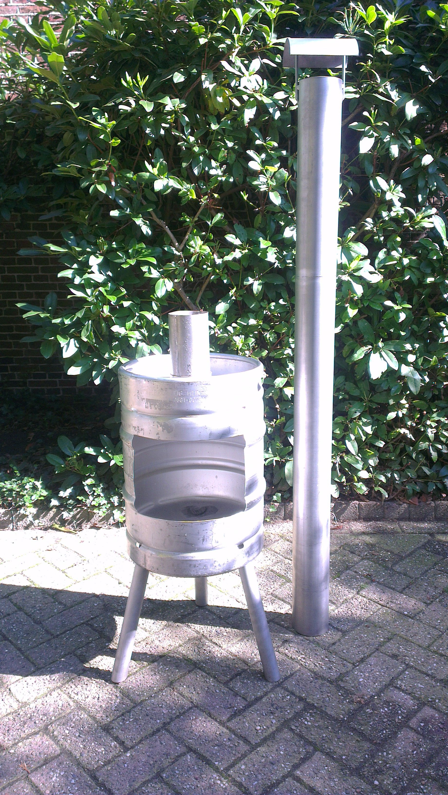 beer keg fire pit stainless steel tig welding removable pipe