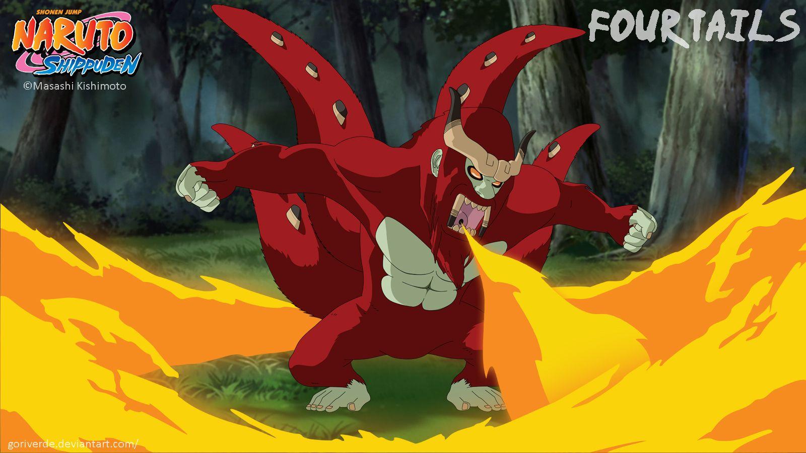 Four Tails / Son Goku / Yonbi by goriverde   Bijū   Naruto ...