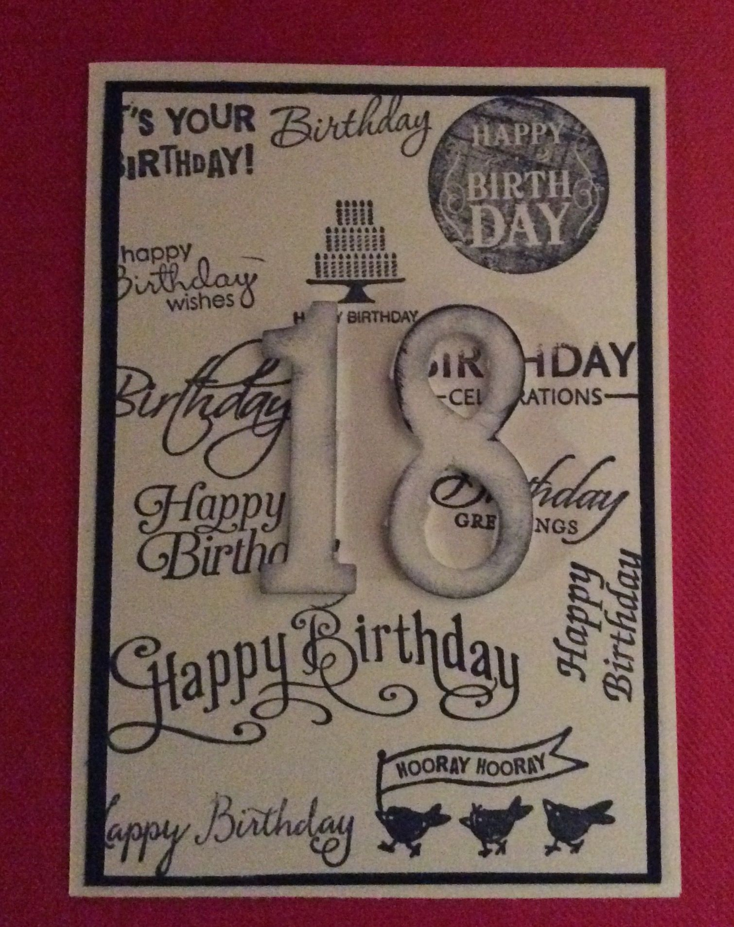 18th birthday card for grandson My Cards