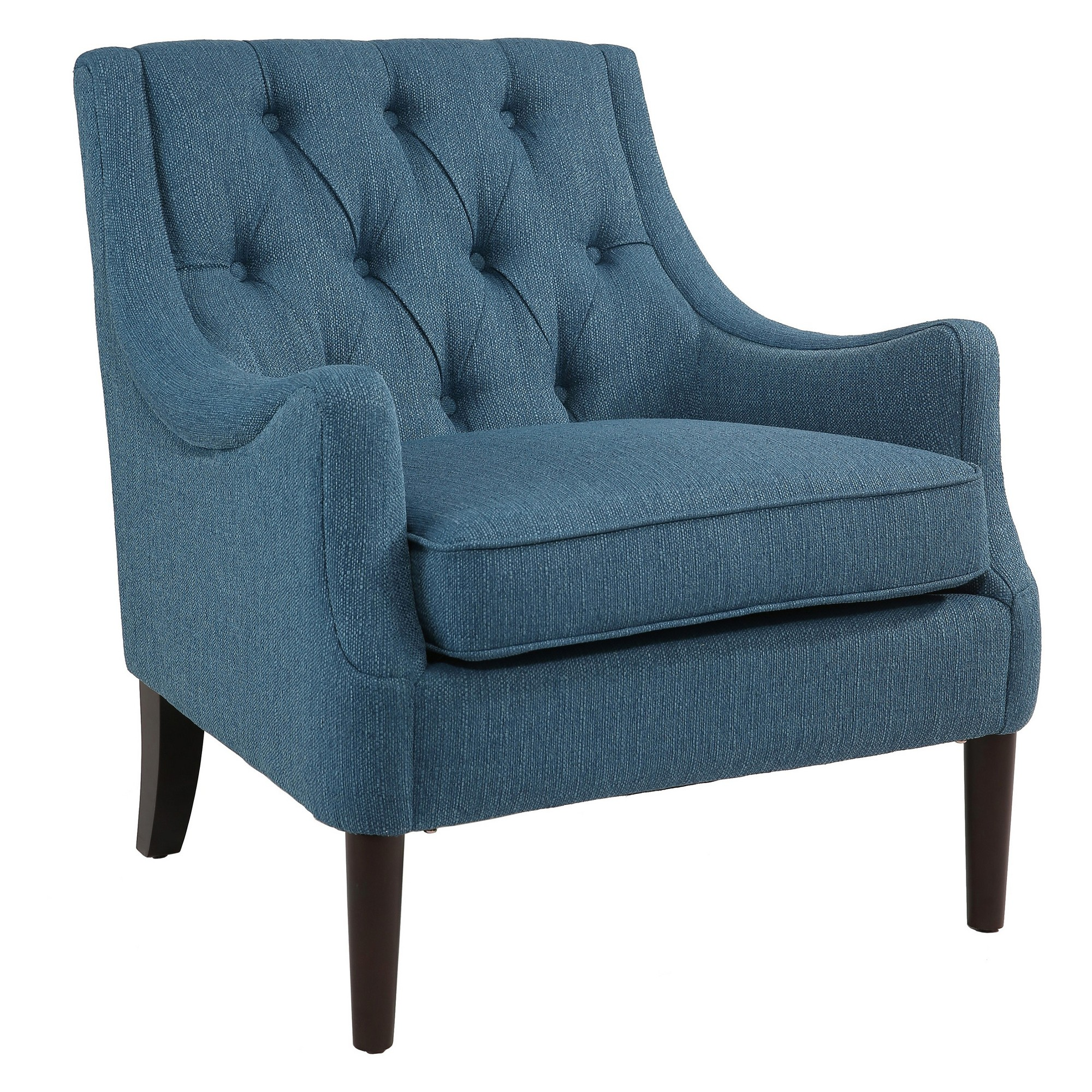 Best Barry Mid Century Blue Accent Chair Teal Abbyson 400 x 300