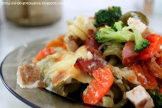 gotuj się do gotowania!: Makaronowa zapiekanka z warzywami na patelnię.
