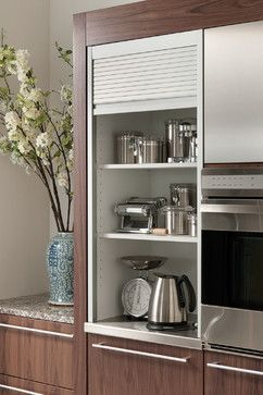 aluminum tambour cabinet contemporary kitchen other metro rh pinterest com