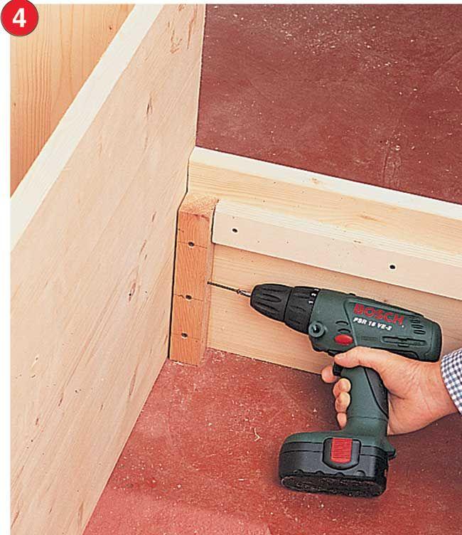 Come costruire un letto contenitore in legno massello ...