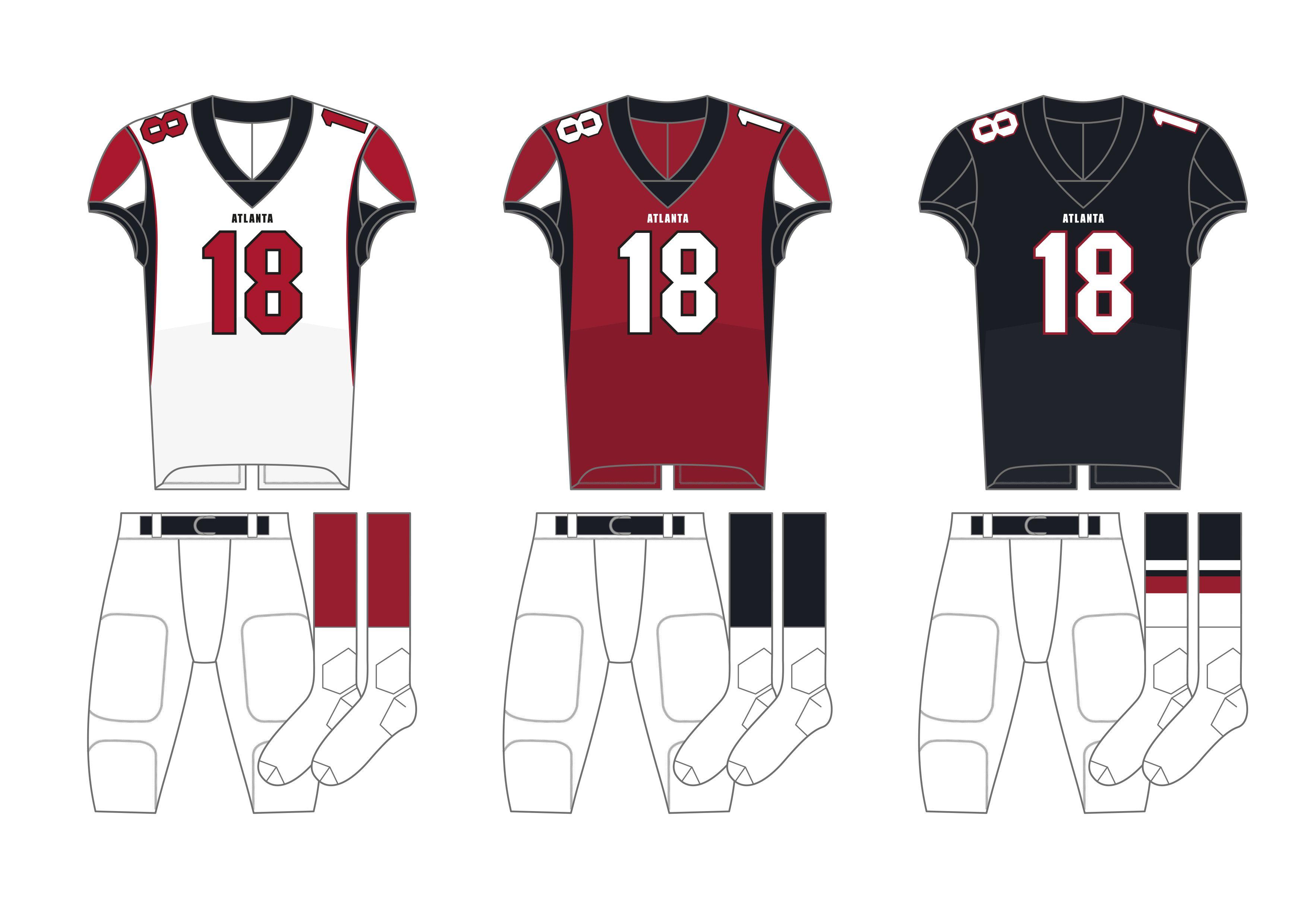 Atlanta Falcons Uniforms In 2020 Football Uniforms American Football Jersey Shirt