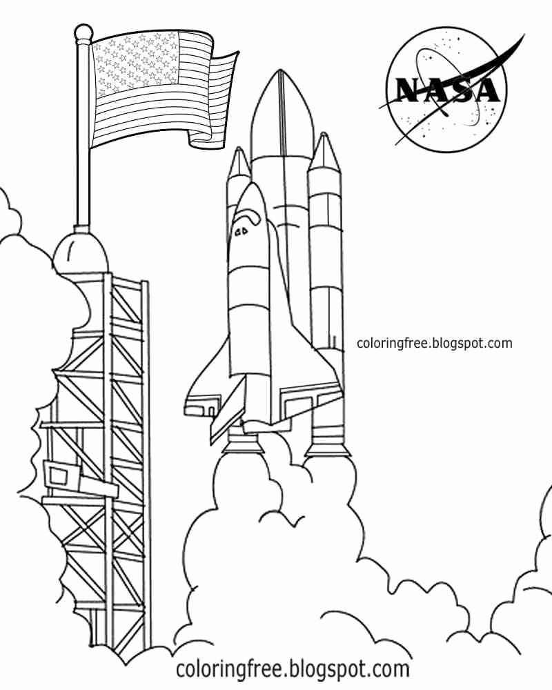 Space Rocket Coloring Page Best Of Superb Coloring Nasa