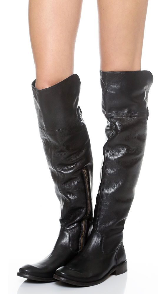 e816eae6b03 FRYE SHIRLEY OTK BOOTS 10 Black Leather Riding Over The Knee Anthropologie  Shoes  Frye  OverKneeBoots  Any