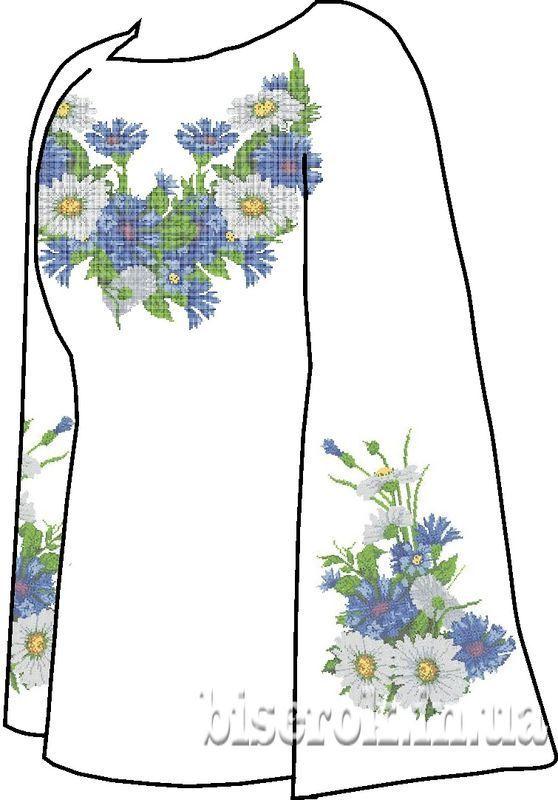 Льняная серая женская вышиванка СВЖЛ-8