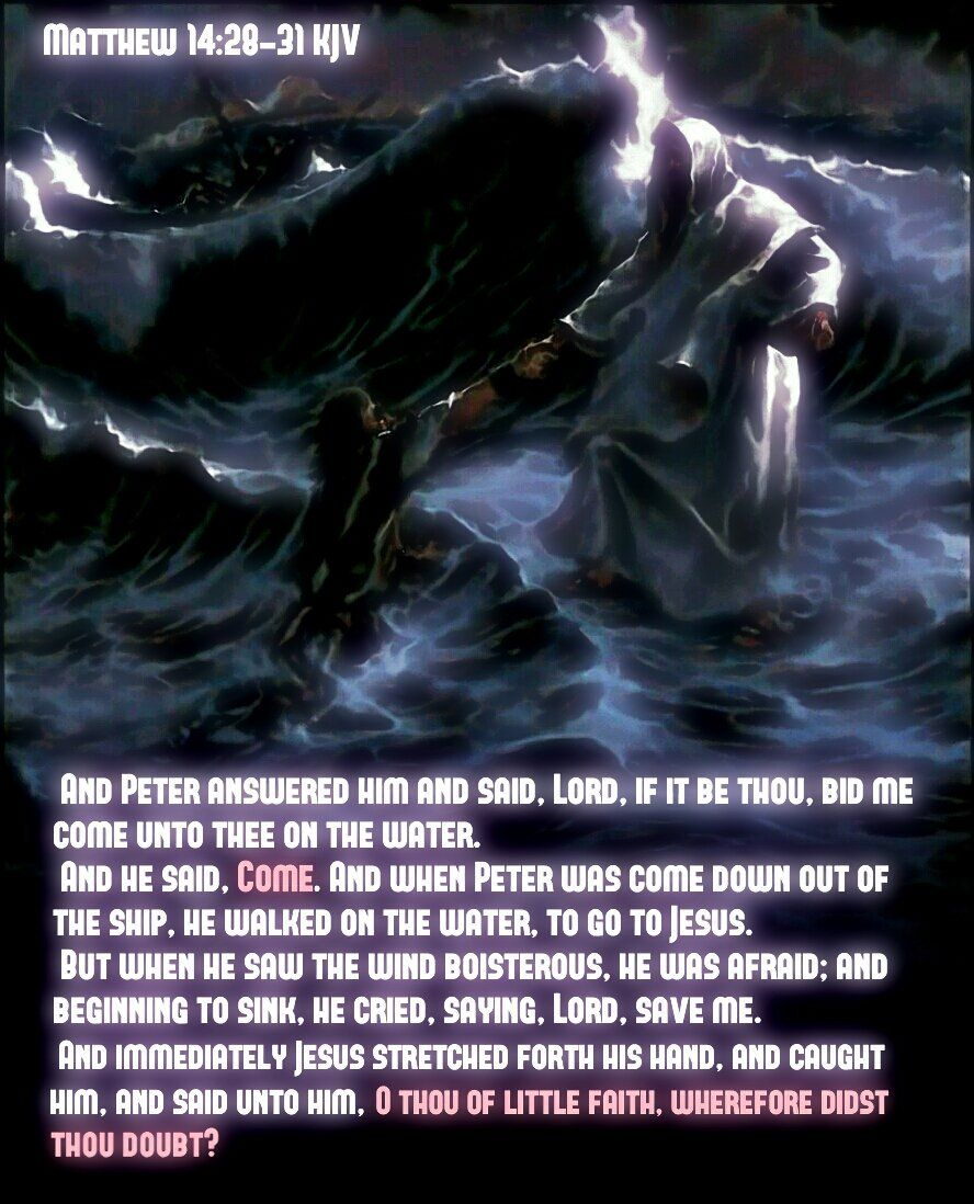 Matthew 14:30 KJV But when he saw the wind boisterous he was afraid; and beginning to sink he cried saying https://t.co/lU82uMaaWc