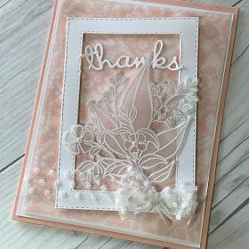 A Soft Vellum Floral Romance card