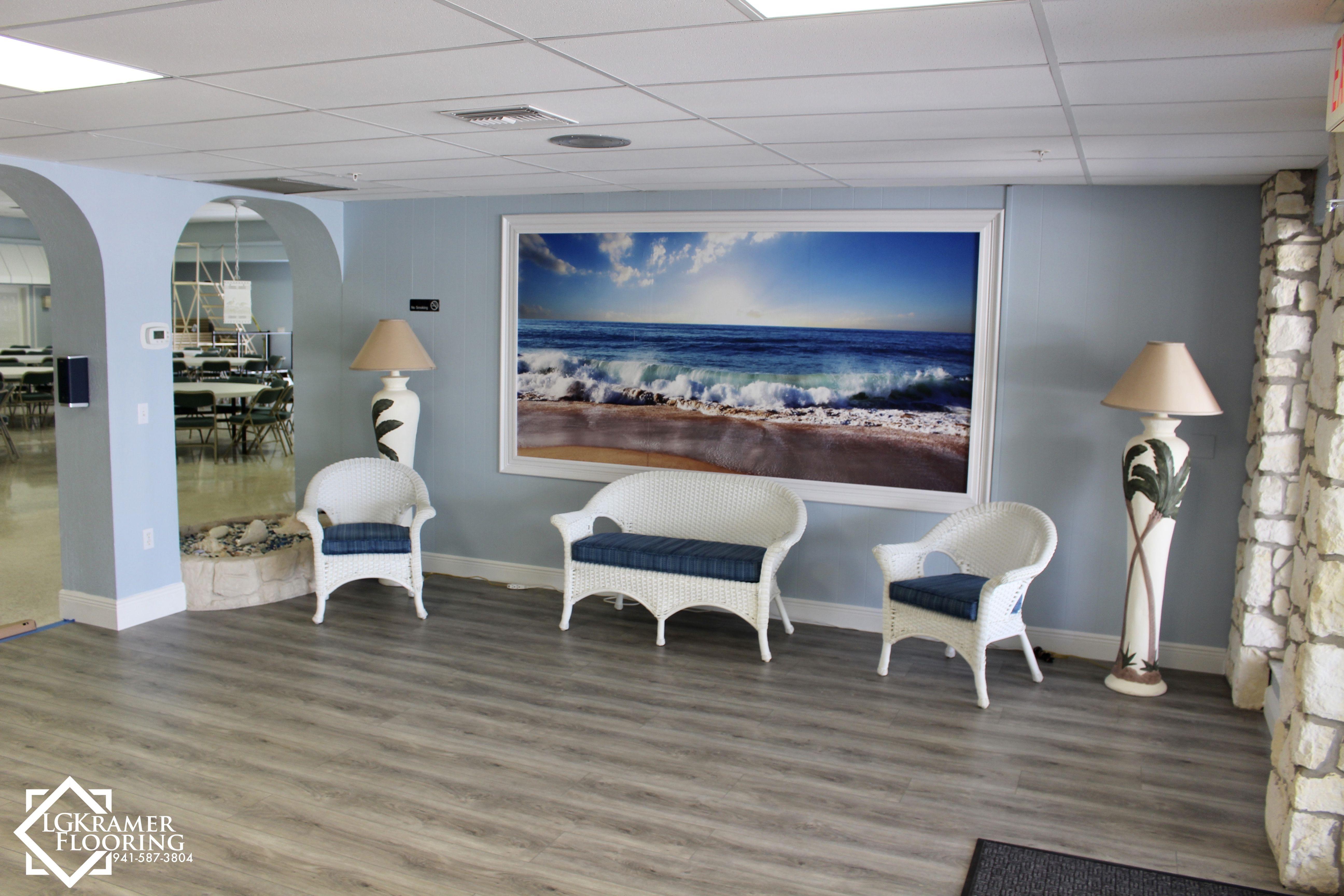 Entry room in venice florida luxury vinyl plank
