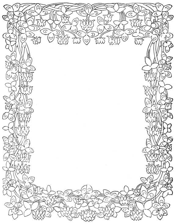Floral Frames Coloring Pages Coloring Pages Inspirational