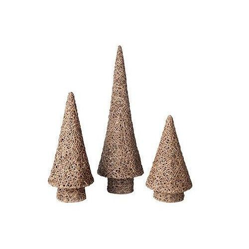Dekorasyon Gifts Decor 3 Piece Vine Cone Tree Set Trees3 PieceChristmas TreesChristmas TressXmas