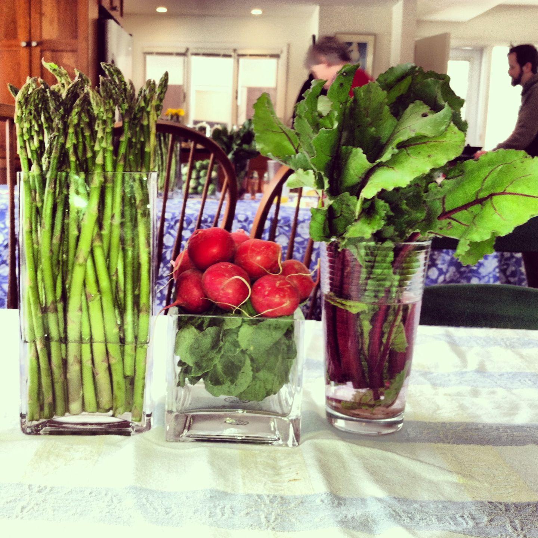 Bridal showers Vegetable centerpiece party ideas
