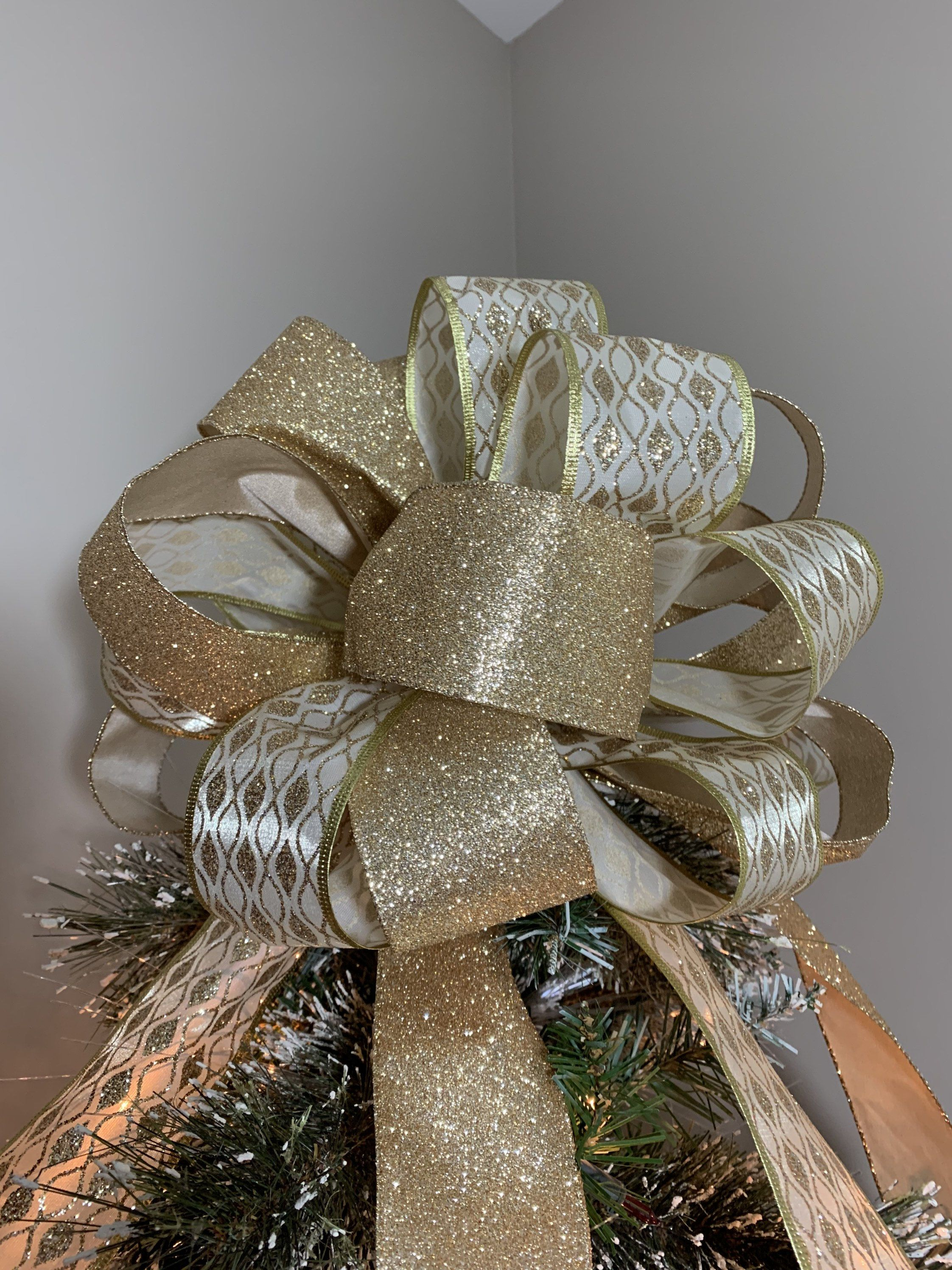 11++ Gold bows for christmas tree trends