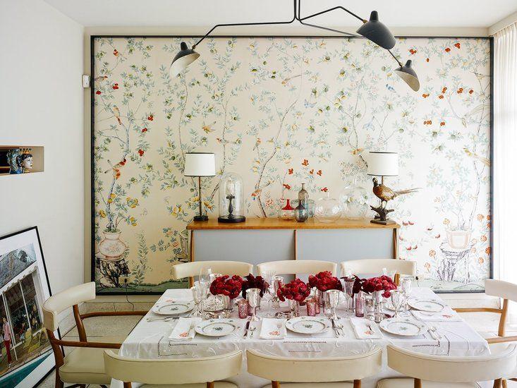 Behang Slaapkamer Romantisch : Jardinieres and citrus trees de gournay behang chinoiserie