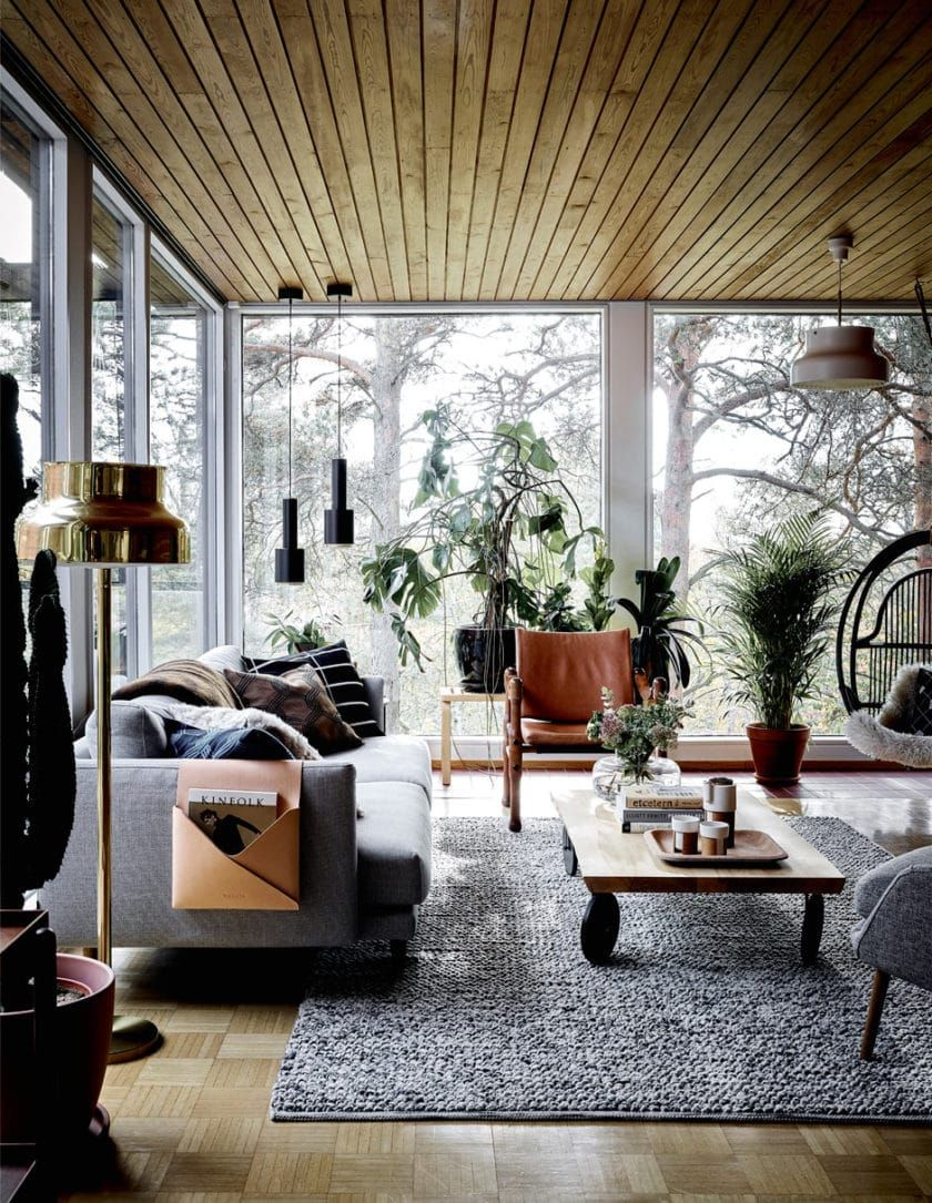 a brick and timber dream home filled with plants inside and out rh pinterest com