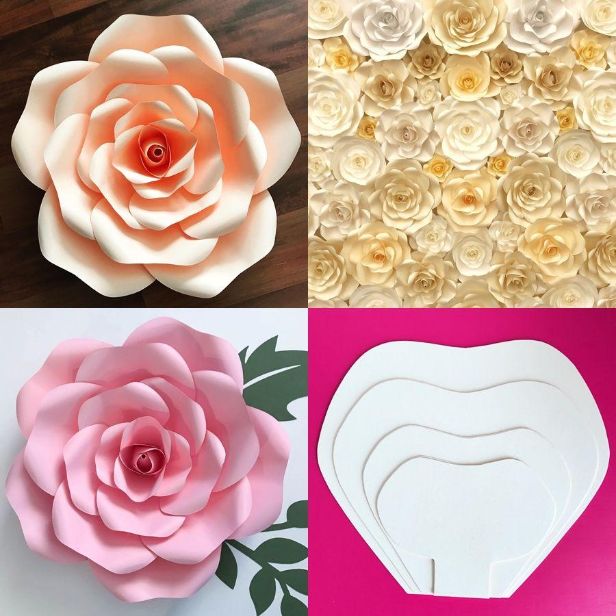 Diy Molde De Flor De Papel Gigante Paper Flowers Paper Flowers