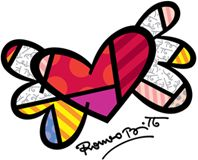 Heart flying - Britto