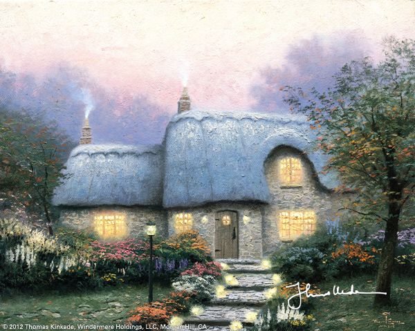The Lit Path by Thomas Kinkade, January 1991
