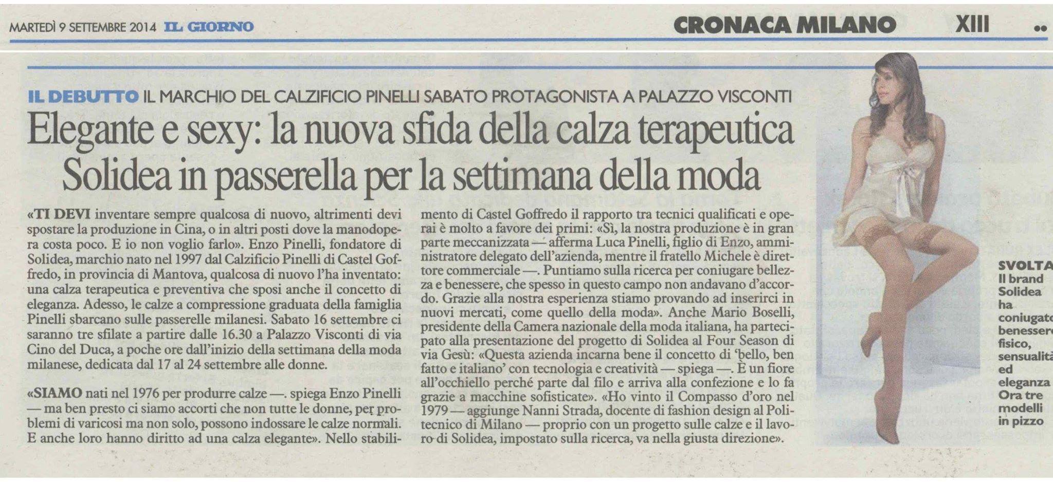 Il Giorno, 9 Settembre 2014. #press #rassegnastampa