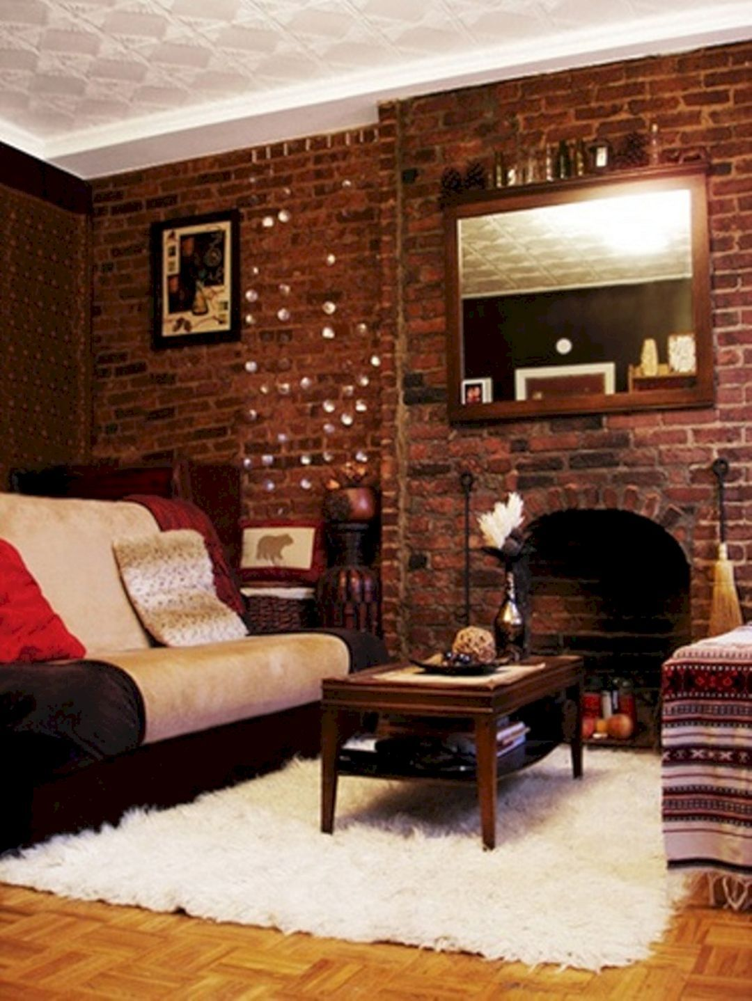 Sublime 25 Gorgeous Brick Living Room Design