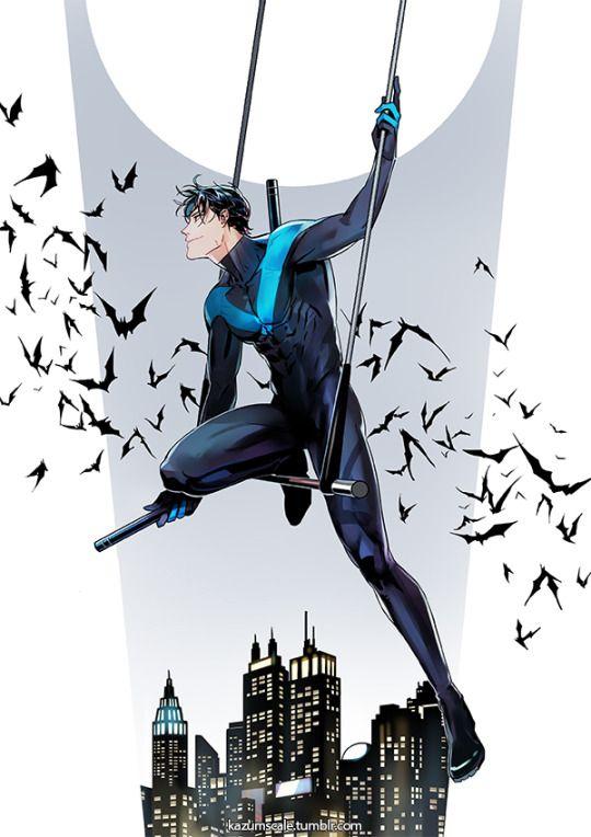 Nightwing  Dick Grayson  <3 | BatFamily | Nightwing, Dc comics, Robin dc