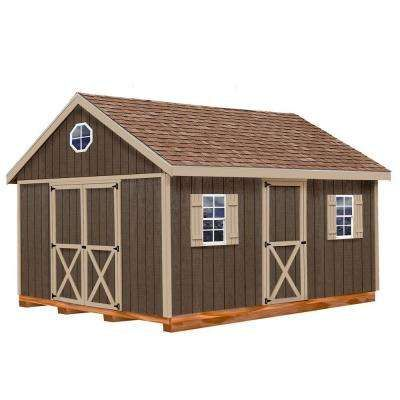 easton 12 ft x 20 ft wood storage shed kit with floor including 4