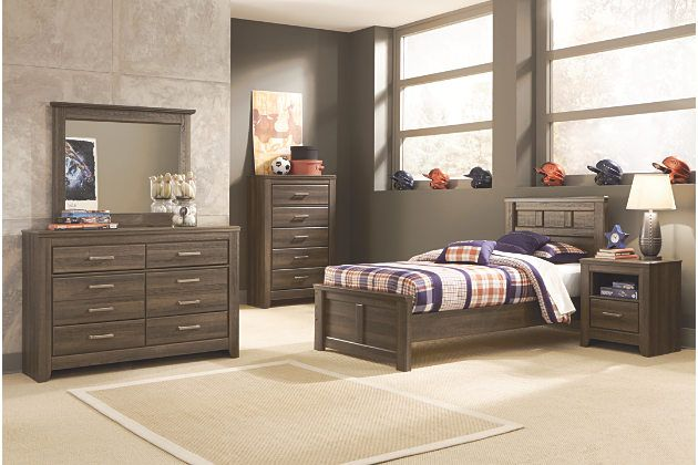 juararo twin panel bed by ashley homestore brown products panel rh pinterest co uk