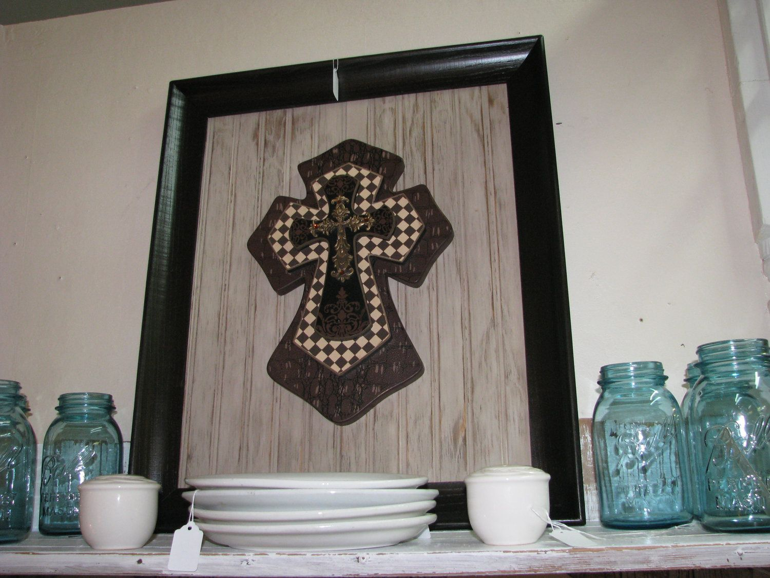 Attirant Shabby Chic, Rustic, French Country, Faith Home Decor Cross Framed Art.  $59.95