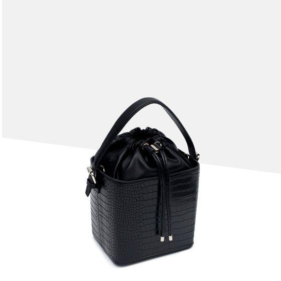 Zara mock croc bag