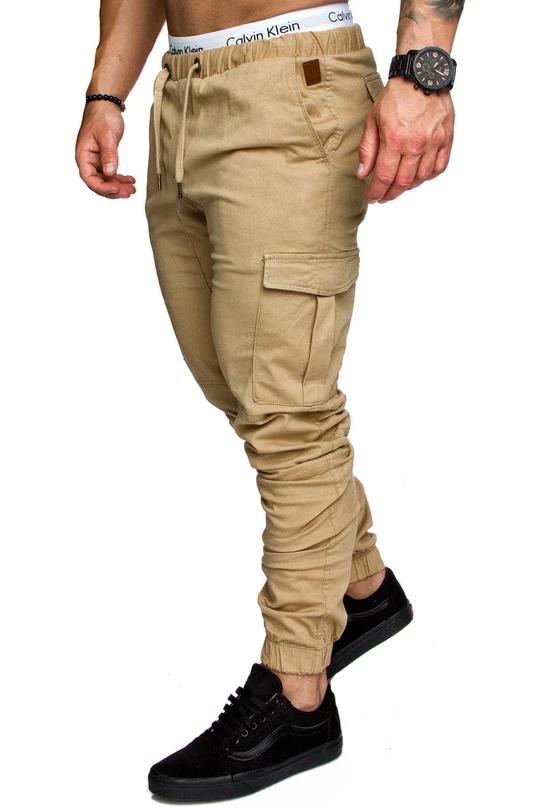 Mens Elasticated Denim Stretch Jeans Cargo Combat Waist Work
