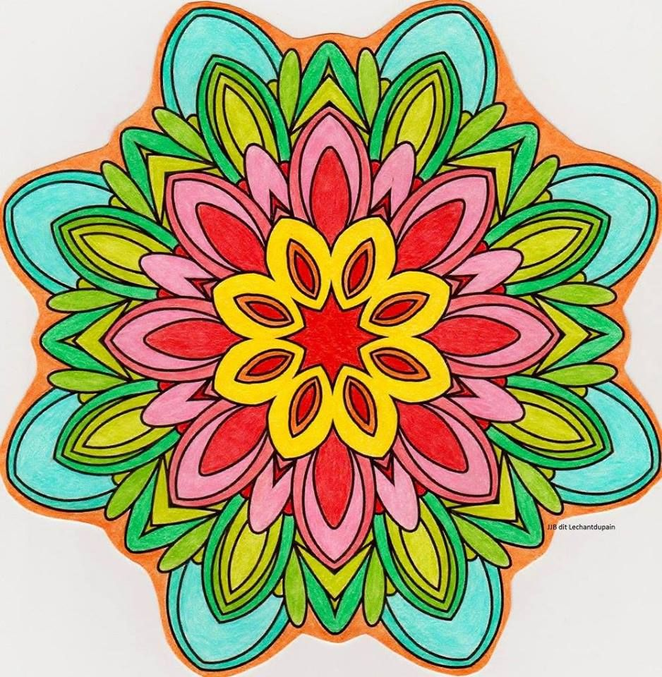 Coloriage 201 Mandala Fleur Simple Things 15 Realise Le 14