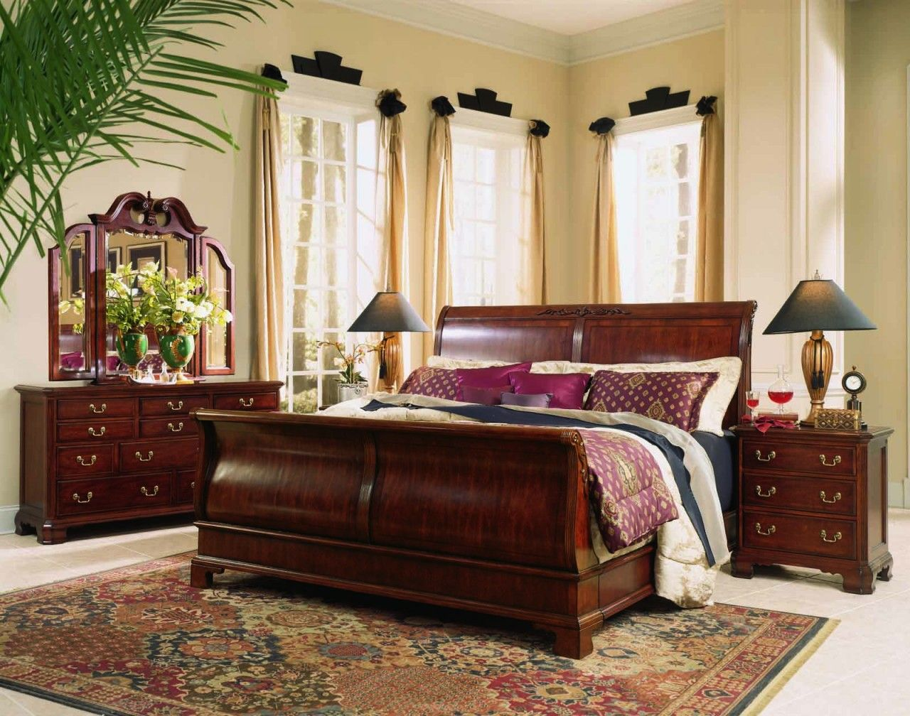 Captivating Area Rug Design Feat Traditional Bedroom