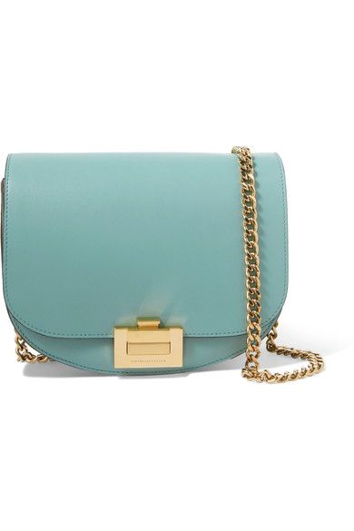 8645b8122564 Light-blue leather (Calf) Flip-lock fastening front flap Designer color   Celadon Weighs approximately 2.6lbs  1.2kg Made in Italy