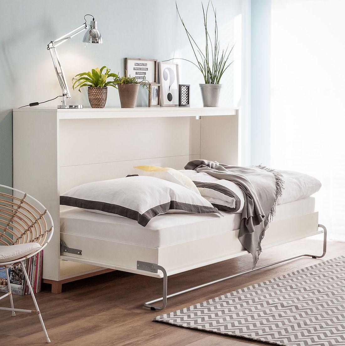 platzsparendes Schrankbett Lindholm für kleine Räume und ...